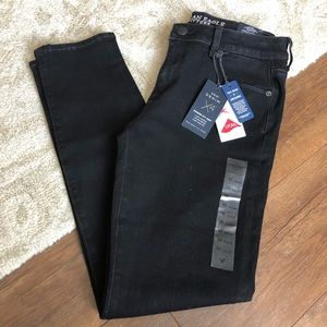 American Eagle Black 360 Stretch Skinny Jeans 10